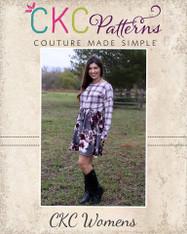 Karen's Woven and Knit Top, Tunic and Dress  Sizes XXS to 3X Women PDF Pattern