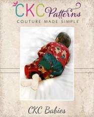 Nickolas' Babies Drop-Bottom PJ's Sizes Newborn to 18/24m Babies PDF Pattern