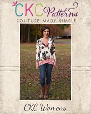 Hollis' Crossover Hem Top Sizes XXS to 3X Women PDF Pattern