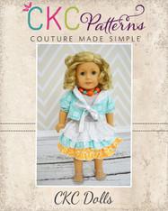Bianca's Reversible Bolero & Amanda's Triple Ruffle Skirt Doll Size PDF Pattern