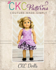 Poppy's Peekaboo Dress Doll Size PDF Pattern