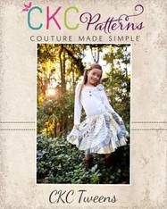 Victoria's Tween Ruffled Swirly Skirt PDF Pattern
