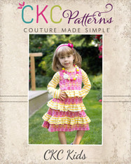 Allie's A-Line Knit Ruffle Dress Sizes 6-12m to 8 Girls PDF Pattern