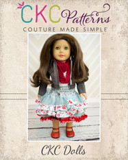 Coco's Fabric Pettiskirt with Infinity Scarf Doll Size PDF Pattern
