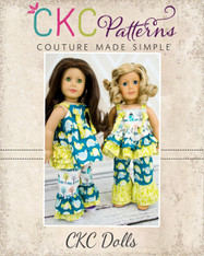 Kadence's & Genevieve's Knot Tops with Nicolette's Pants & Capris Doll Size PDF Pattern