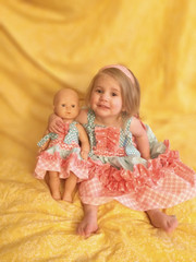 Paired with Girls Aubrey's Tiered Ruffled Knot Dress