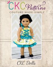 Charlotte's Corset Top & Antoinette's Skirt Doll Size PDF Pattern