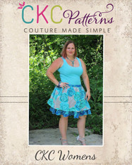 Antoinette's Double Layer Twirly Skirt Sizes XS to 5X Women PDF Pattern