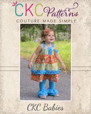 Aubrey's Baby Tiered Ruffle Knot Dress PDF Pattern