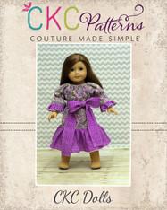 Chloe's Party Peasant Dress Doll Size PDF Pattern