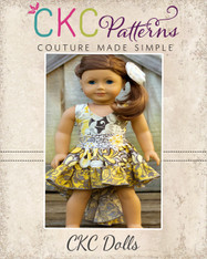 Hope's Hi-Low Dress Doll Size PDF Pattern