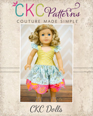 LaRae's Scalloped Dress & Top Doll Size PDF Pattern