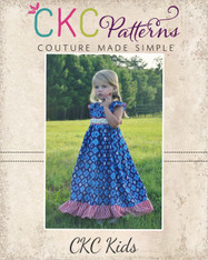 Adelaide's Ruffle Neck Top, Dress & Maxi Sizes 6/12m to 8 Girls PDF Pattern