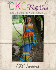 Brianna's Tween Tiered Ruffle Pants and Capris PDF Pattern