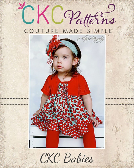 Baby Tabithas Knit T Shirt Dress And Top Pdf Pattern