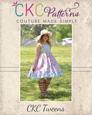 Dahlia's Tween Double Flutter Pocket Top, Dress & Maxi PDF Pattern