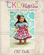 Demi's Ruffled Peasant Dress Doll Size PDF Pattern