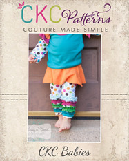 Quinn's Baby Knit Skirted Leggings PDF Pattern