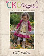 Molly's Baby Faux Apron Peasant Dress PDF Pattern