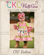 Cosette's Baby Knit and Woven Dress PDF Pattern