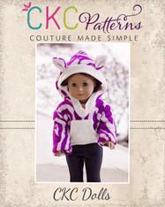 Winnie's Hooded Dress and Sweatshirt for Dolls PDF Pattern