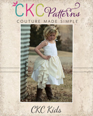 Annie's Cascade Ruffle Dress Sizes 6-12m to 8 Girls PDF Pattern