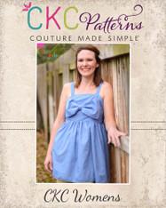 Hattie's Women's Simple Bow Top, Dress, and Maxi PDF Pattern