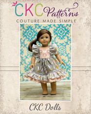 Nova's Square Flutter Top and Dress Doll Size PDF Pattern
