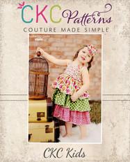 Addison's Triple Ruffle Low Back Dress Sizes NB to 8 Girls PDF Pattern