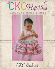 Francesca's Baby Frilly Ruffle Dress PDF Pattern