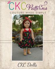 Betty's Doll Fifties Dress PDF Pattern