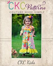 Anika's Ruffle Capris Romper Sizes 12/18m to 6 Girls PDF Pattern