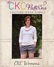 Blossom's Tab Shorts Sizes XS to XL Women PDF Pattern