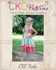 Aubrey's Tiered Ruffle Knot Dress Sizes NB to 8 Girls PDF Pattern