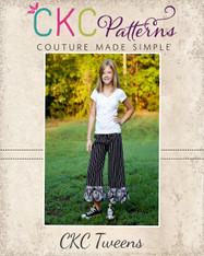 Harleigh's Tween Scalloped Capris and Pants PDF Pattern