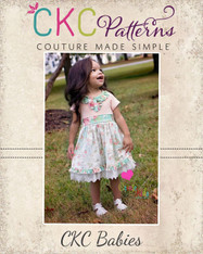 Tallulah's Baby Knit and Woven Dress and Maxi PDF Pattern