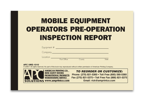 Daily Vehicle Checklist | 106119: Daily Vehicle Inspection ...