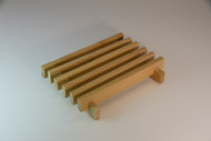 wooden soap draining dish