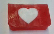 white heart glycerin soap