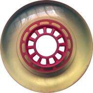 100mm 88a Scooter Wheel Clear/Pink Spider Hub