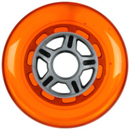 100mm 88a Scooter Wheel Orange/Silver 5 Spoke Hub