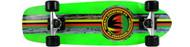 Paradise Cruiser - Barking Rasta - 8 x 26.5 Neon Green Deck - Green Grip