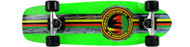 Paradise Cruiser - Barking Rasta - 8 x 26.5 Neon Green Deck - Clear Grip