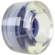 65mm Smooth Clear W/ Purple Hub USA Wheel 78A