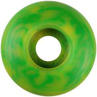 Blank Wheel - 52mm Green/Yellow Swirl (Set of 4)