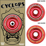 Cyclops Wheel - 100mm Red/Red Solid Hub