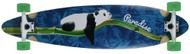 "Paradise - ""Lazy Bamboo Panda"" Pintail Longboard Complete"