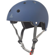 Triple 8 Helmet Dual Certified Blue Rubber XS/S