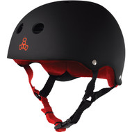 Triple 8 Helmet Sweatsaver Black Rubber/Red Small