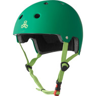 Triple 8 Helmet Dual Certified Kelly Green Rubber XS/S